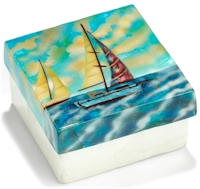 Sail boats trinket box
