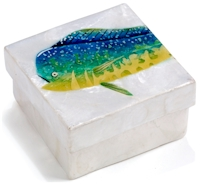 Mahi Mahi fish trinket box