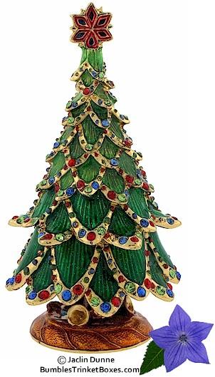 Trinket Box Christmas Tree With Bejeweled Trim