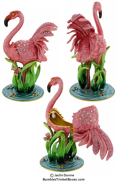 Trinket Box Flamingo Box